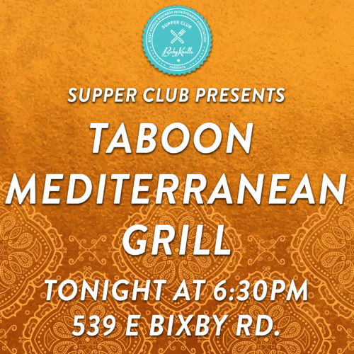 supper club at taboon